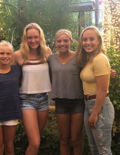 Amelia, Leah, Olivia and Maegan at the Mission Inn